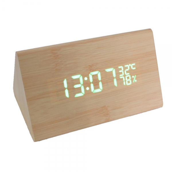 Modern-Wooden-Alarm-Clock-DC-AAA-Powered-Digital-LED-Desk-Alarm-Clock ...