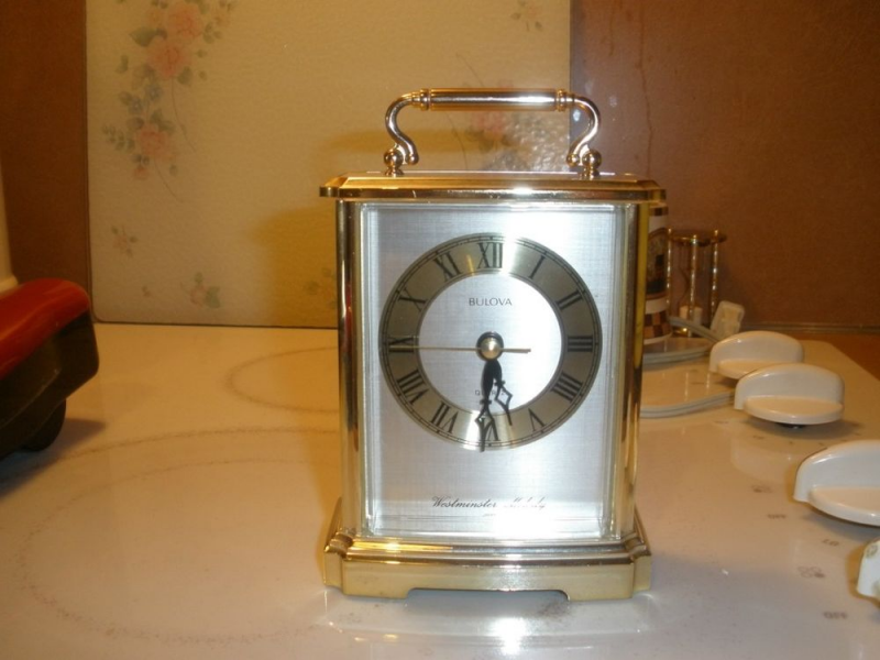 Bulova Wesminster Melody Desk Clock Quartz 4RH626 | eBay