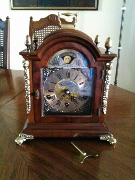 ... Wuba Westminster Triple Chiming 8 Day Moon Phase Mantel Clock | eBay