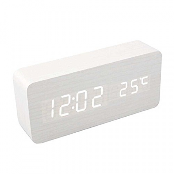 ... Activated Luminous Desk LED Digital Alarm Clock(White-White), Color12