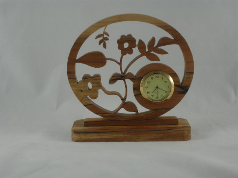 Desk / Shelf Clock Handmade From Spalted Maple Wood With Quartz Clock ...