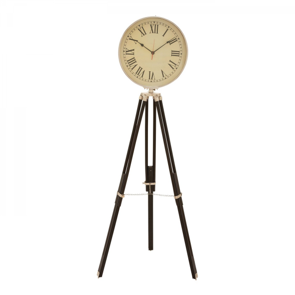 Woodland Imports 46697 Metal and Wood Floor Clock | ATG Stores