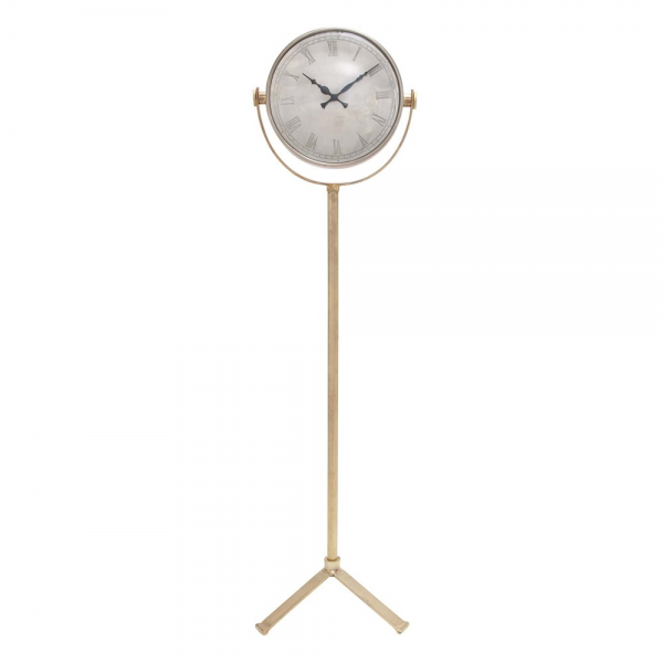 Woodland Imports 28631 Double Sided Metal Floor Clock | ATG Stores