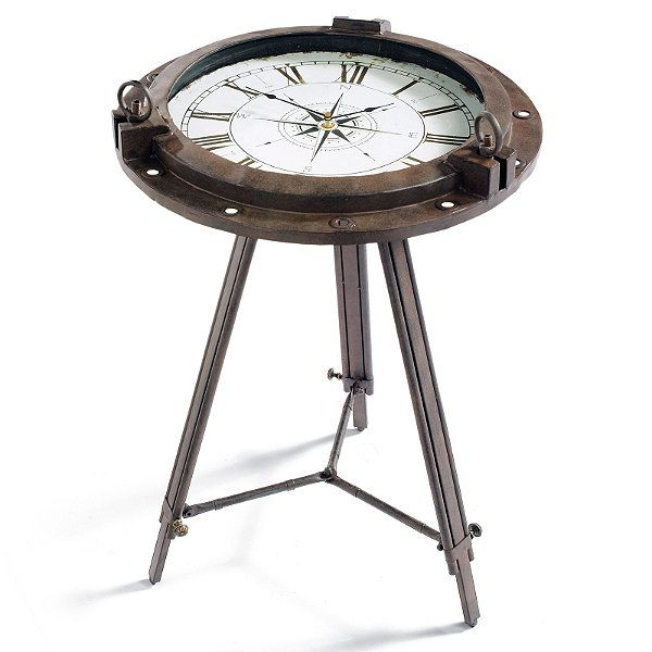 Tripod Clock Table - cool table | Gift Ideas | Pinterest
