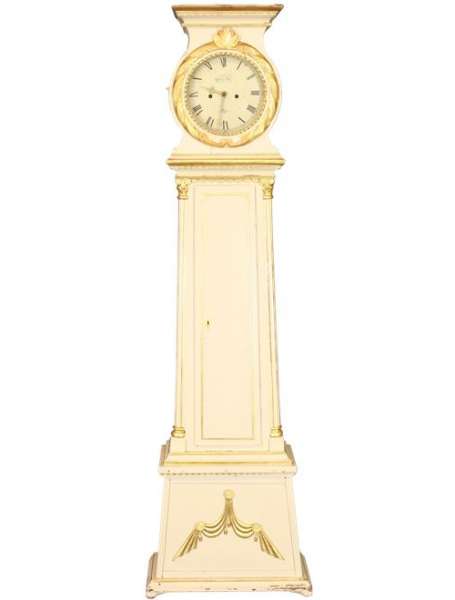 ANTIQUE SIGNED PAINTED GILDED SCANDINAVIAN DANISH LONG CASE CLOCK ...