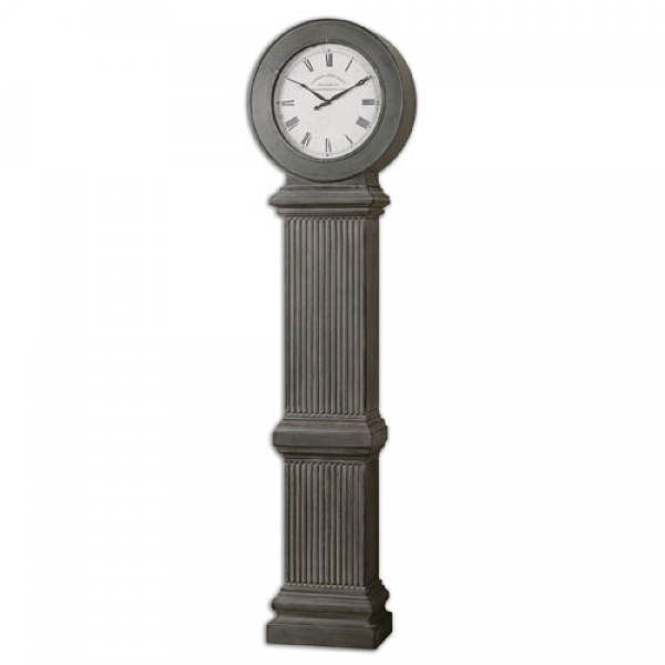 Antique Dusty Gray Floor Clock Uttermost Standing/Floor Clock Clocks ...