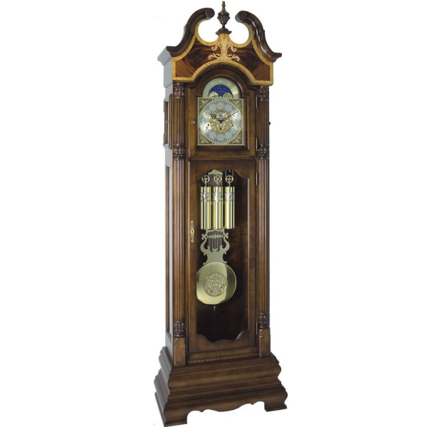 Hermle Handcrafted Grandfather Clock in Cherrywood Walnut Finish 01200 ...