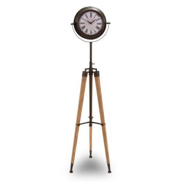 Find it at the Foundary - Metal Tripod Floor Clock - 62 x 16 in.