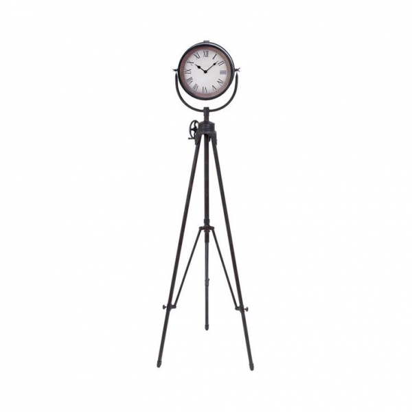 Metal Tripod Standing Wall Clock | Overstock.com Shopping - The Best ...