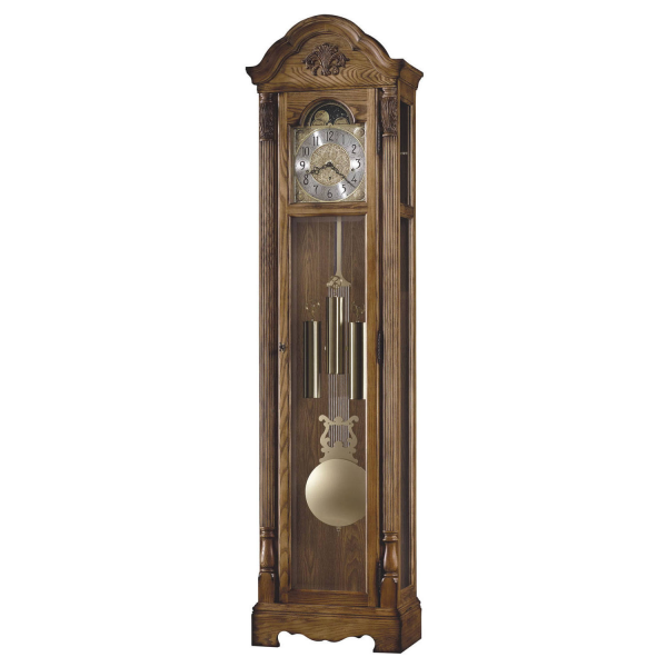 Howard Miller Calhoun Floor Clock Distressed Heirloom Oak 611-080