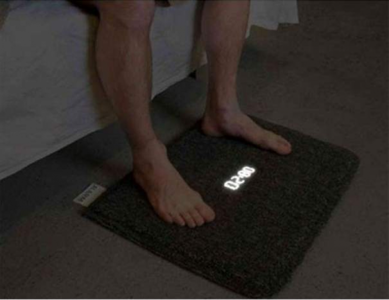 The floormat alarm clock that turns off when you stand on it.