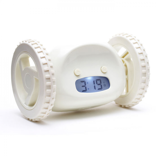 Clocky Alarm Clock on Wheels at Brookstone—Buy Now!