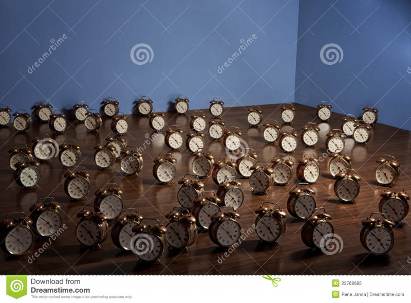 Alarm Clocks On Floor Royalty Free Stock Photo - Image: 23768685
