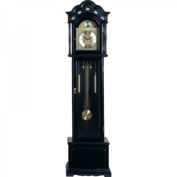 Edward Meyer™ Grandfather Clock with Black Finish and Mother-of ...