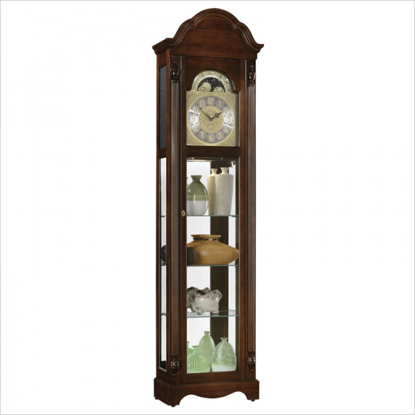 ... clocks timeless accents clarksburg curio grandfather clock by ridgeway