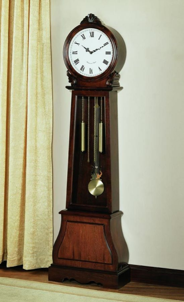 clocks grandfather clocks transitional brown brown grandfather clock ...