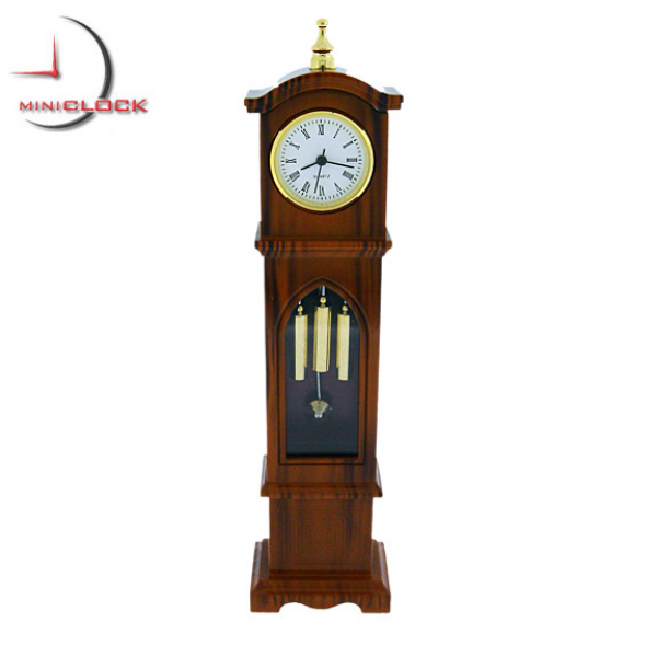 Details about Mini Clocks: Miniature Deluxe GRANDFATHER CLOCK Brown