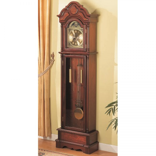 Coaster Grandfather Clocks Traditional Brown Grandfather Clock with ...