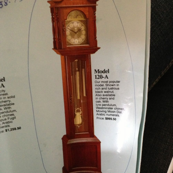 Emperor Grandfather Clock Tempus Fugit