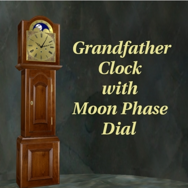 Second Life Marketplace - Moon Dial GrandFather Clock