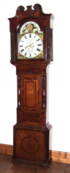 Antique Rolling Moon Grandfather Longcase Clock Willman & Co ...