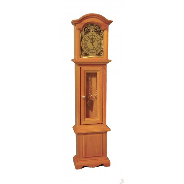 Small Pine Grandfather Clock - MiniatureLiving.co.uk