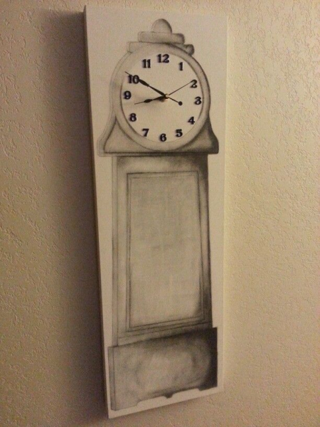 Penciled grandfather clock on canvas | Forever Clocks | Pinterest