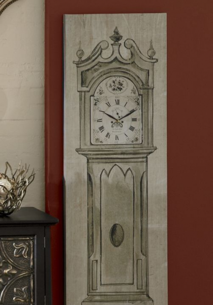 Canvas Grandfather Clock from Through the Country Door®