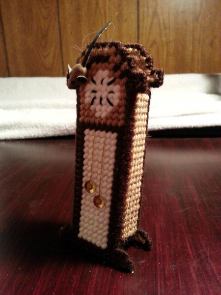 ... similar to Plastic Canvas Christmas Grandfather Clock Ornament on Etsy