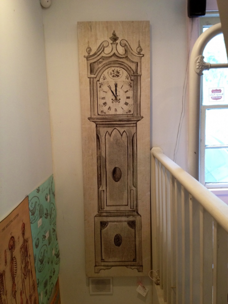 Grandfather Clock Drawing Vintage Grandfather Clock Painting on Canvas ...