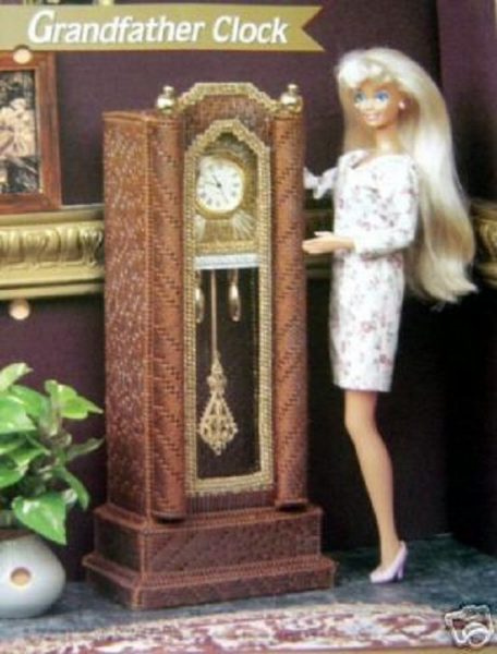 Plastic Canvas Fashion Doll Pattern GRANDFATHER CLOCK