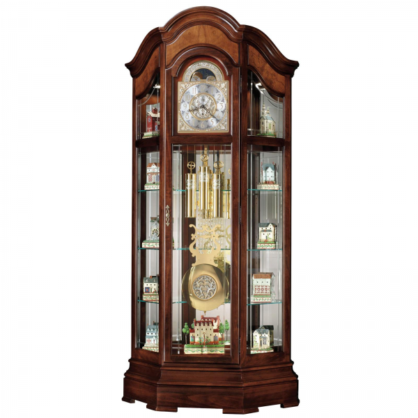 Howard Miller Majestic Curio Grandfather Clock - Curio Cabinets at ...