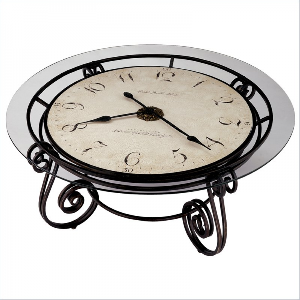 Ravenna Round Coffee Table Clock by Howard Miller