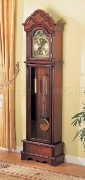 Dark Cherry Finish Beautiful Grandfather Clock