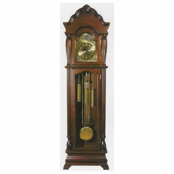 Acme Cherry finish wood grandfather clock - Pricefalls.com