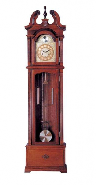 Acme Furniture Benjamin Cherry Finish Grandfather Clock