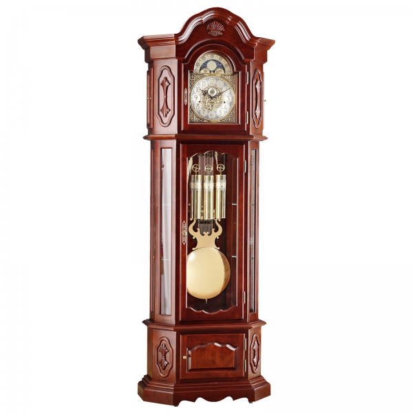 Hermle St. Francis Old World Styled Cherry Finish Grandfather Clock ...