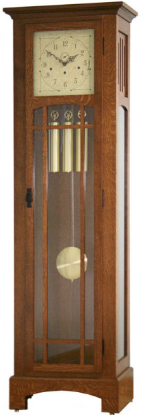 Mission Grandfather Clock - Ohio Hardwood Furniture