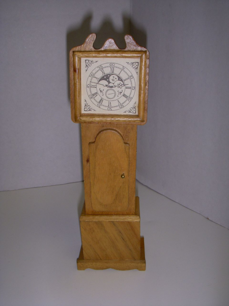 Vintage Wooden Dollhouse Grandfather Clock! from kathysdolls on Ruby ...