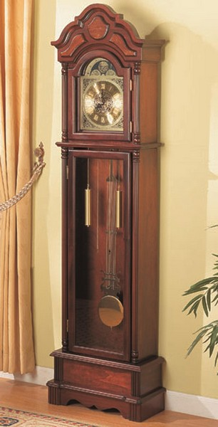 Traditional Brown Grandfather Clock with Chime