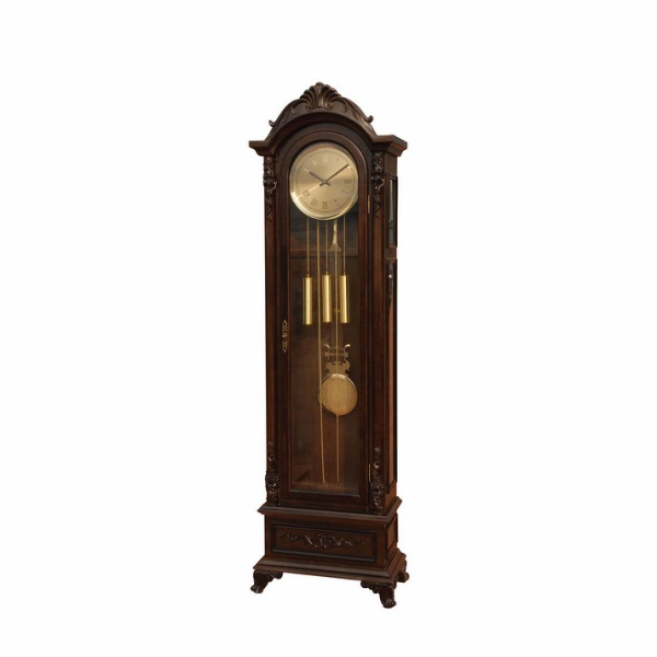 Bengali collection dark walnut finish wood grandfather clock - Join ...