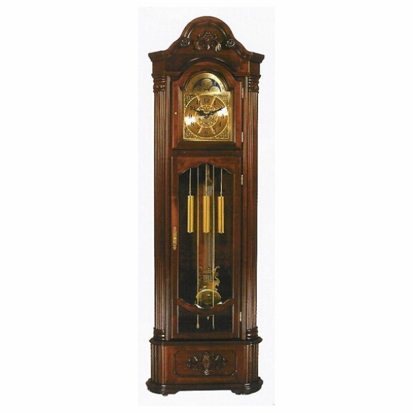 Cherry finish wood corner grandfather clock - Join the Pricefalls ...