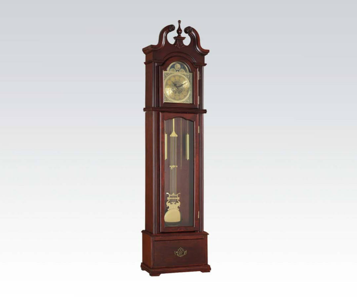 Valentine Cherry Wood Glass Grandfather Clock | Decor | The Classy ...
