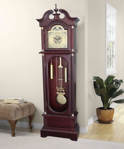 Grandfather Clock Wood Tall Standing Tower Wall Clocks Cathedral ...