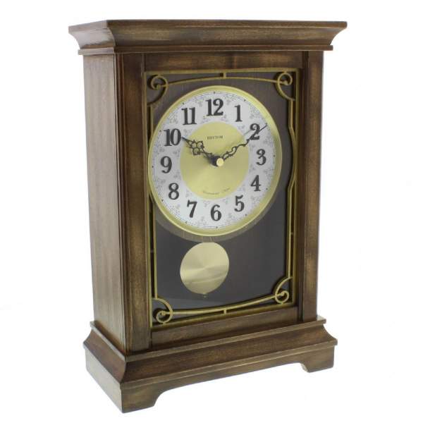 Grand Rhythm Deluxe Wooden Mantel Clock - Westminster Chime