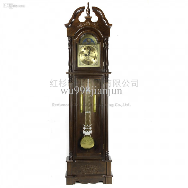 Grandfather Clock Grandfather Clock Chime Bell Stand Living Wood Clock ...