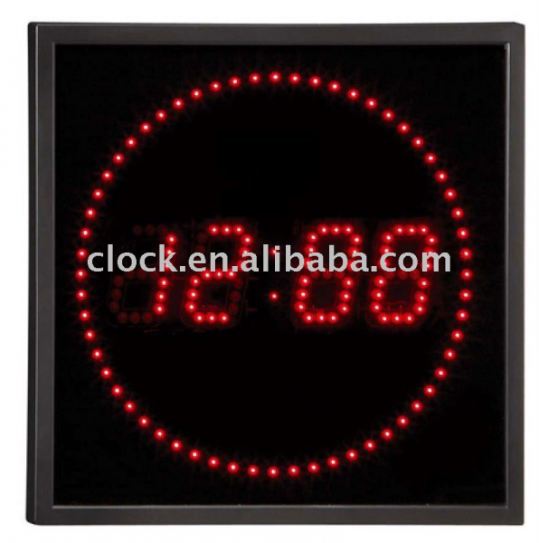 View Product Details: Led digital Wall clock JB-40644 RED LED CLOCK