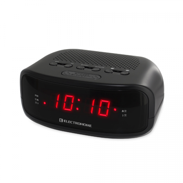 Electrohome Digital AM/FM Clock Radio with Battery Backup, Dual Alarm ...