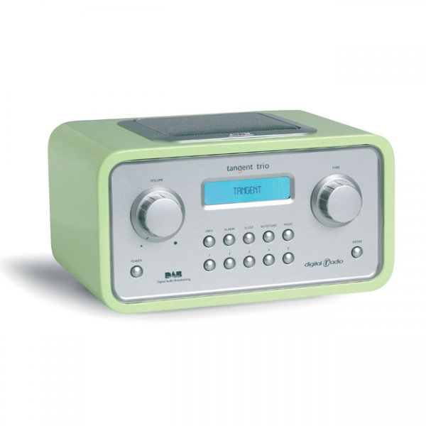 Tangent TRIO Lime Green Digital DAB radio with alarm clock - Buy from ...
