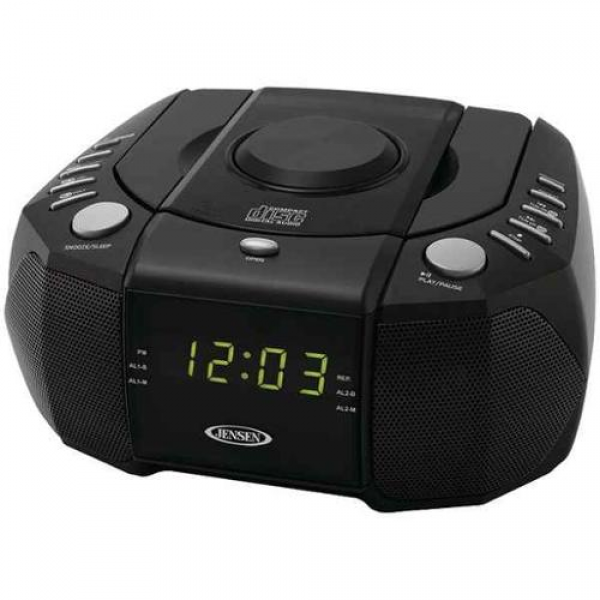 Dual Alarm Clock AM/FM Stereo Radio with Top-Loading CD Player ...